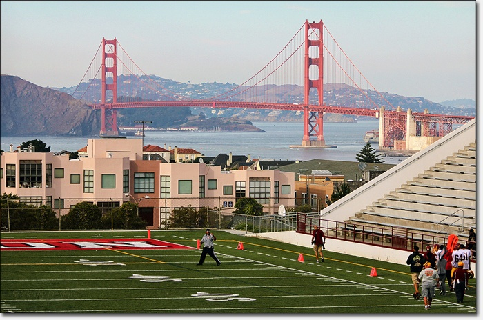 Golden Gate Bridge, from George Washington High School in San Francisco ... AMAZING!