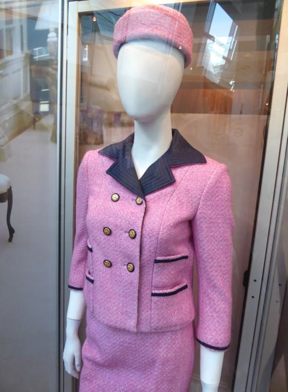 Jacqueline Kennedy Pink suit and hat Costume Designed By Madeline Fontaine for Jackie(2016)