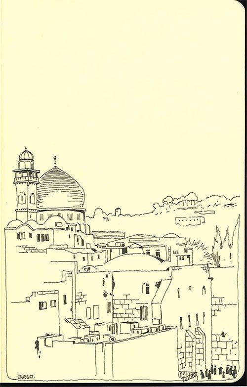 Blog: Sketchbook: A Year in Jerusalem - Doodlers Anonymous