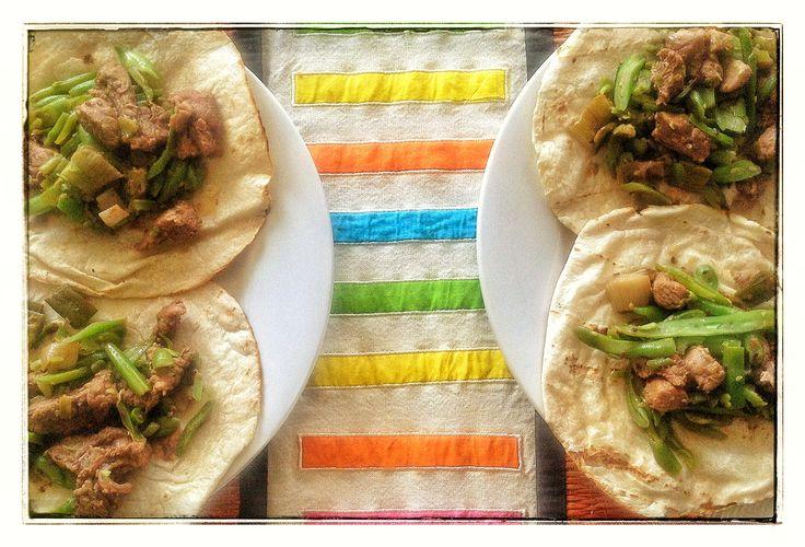 Tacos de pavo a la Mongoliana