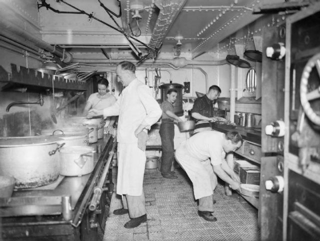 Doris Miller was working in a kitchen like this one.