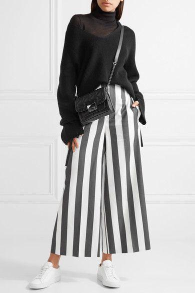 Karl Lagerfeld - K/kuilted Mini Leather Shoulder Bag - Black - one size