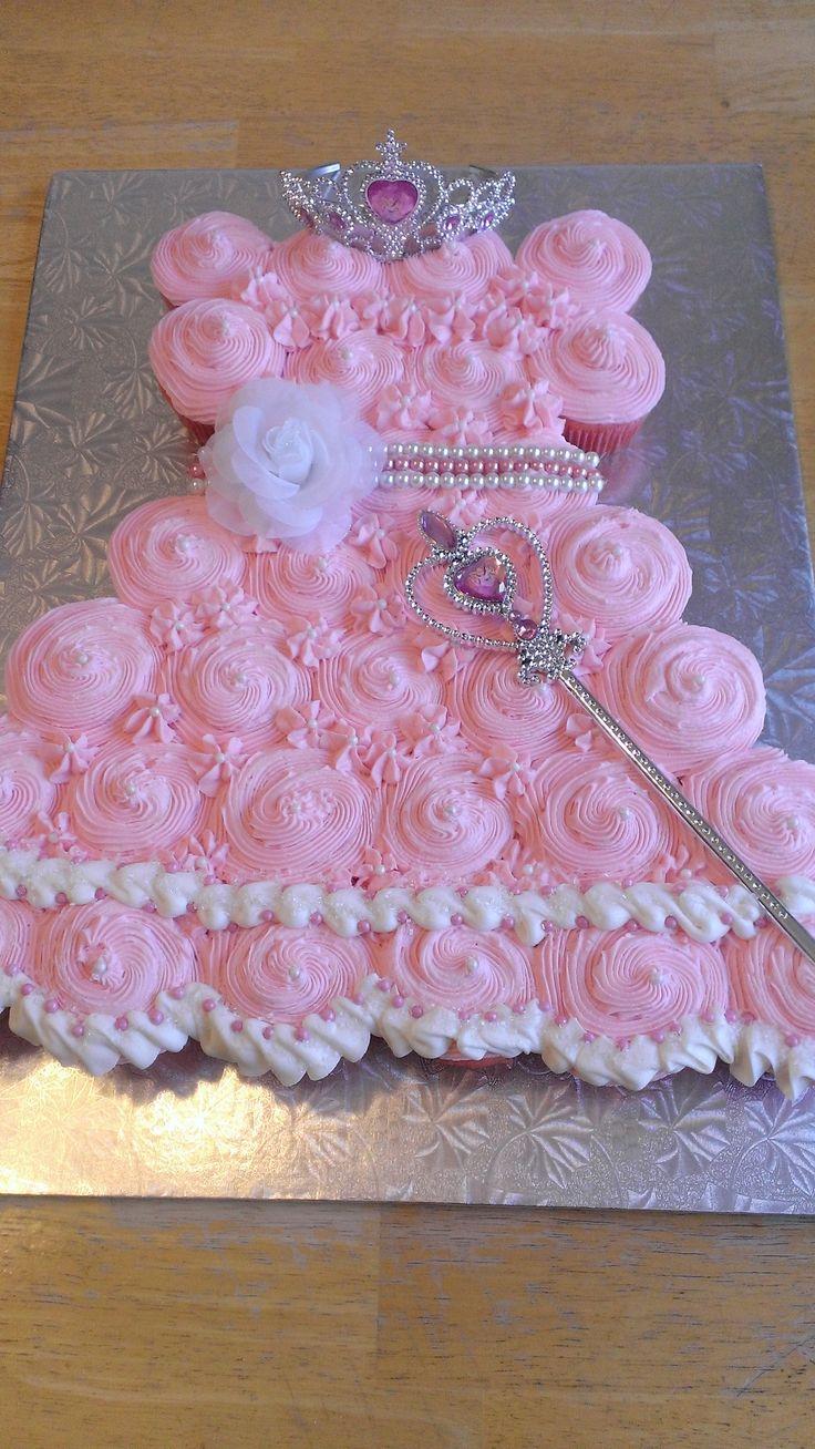 Princess Dress Cupcake Cake I made, Sept 2014.