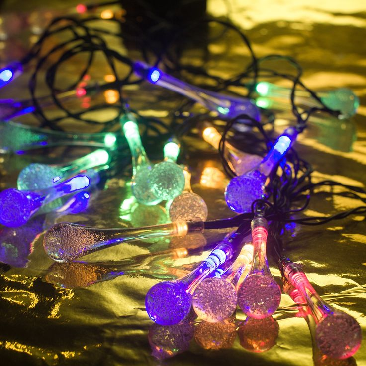 Amazon.com : 13ft 20 Leds Multi Colored Solar LED String Lights With Garden