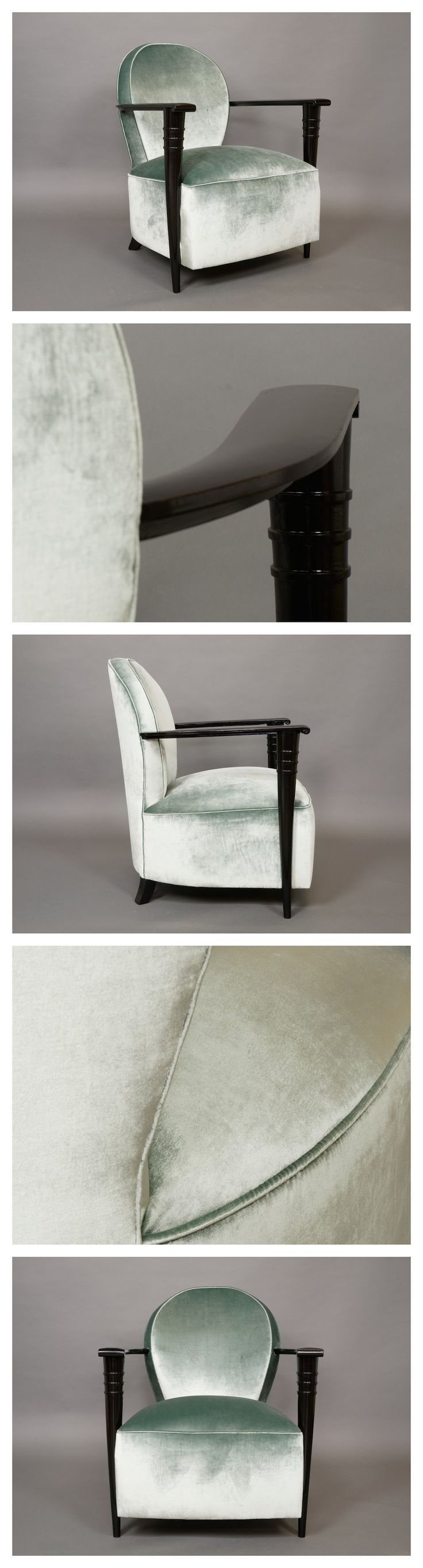 Perfect French Armchair By Maurice Jallot, Upholstered In Silk Velvet, C.1930.