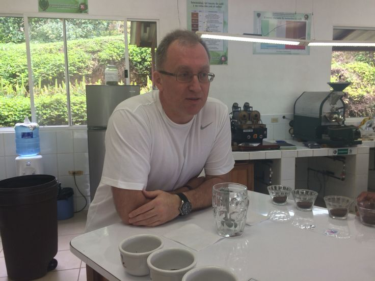 Sergiy at the cupping table