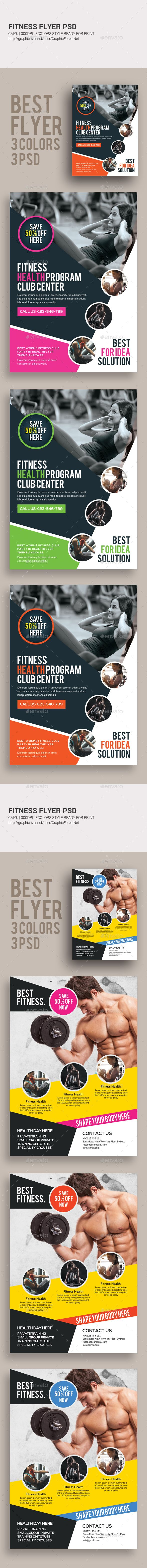 Fitness Flyers Design Template Bundle - Corporate Flyers Design Template PSD. Download here: https://graphicriver.net/item/fitness-flyers-bundle/19249409?ref=yinkira