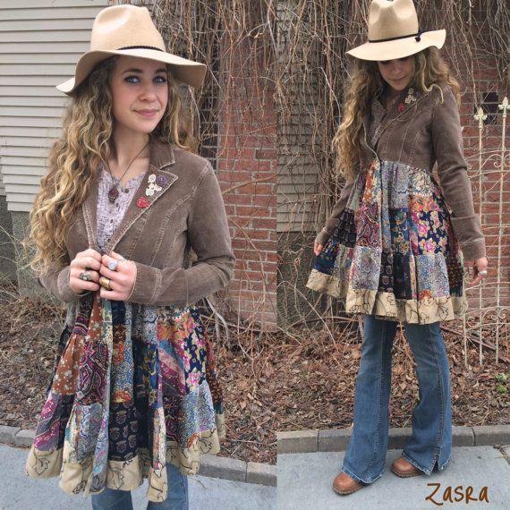 Hippy Patchwork Jacket Size S/Mfestival jacket patchwork by zasra