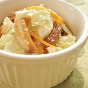 キャベツとさつま揚げのカレーマヨ蒸し by まんまるらあてさん | レシピブログ - 料理ブログのレシピ満載! 仕上がりまで5分くらい!カレー風味が食欲をそそりますよ~。
