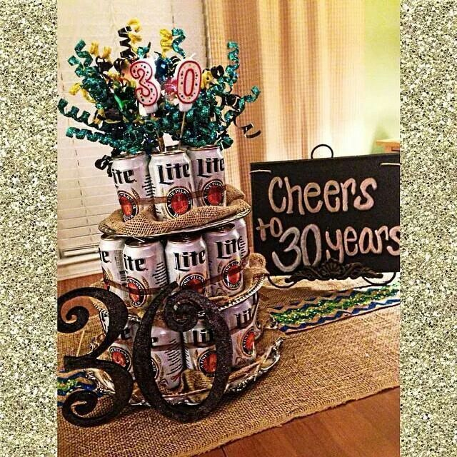 Best guy party decor ever! Cheers to 30 years