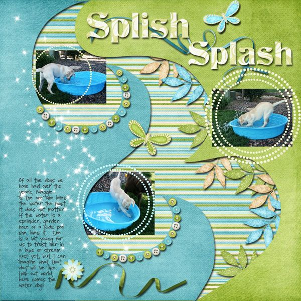 Layout: Splish Splash  Wow, I love this page.  A must do!