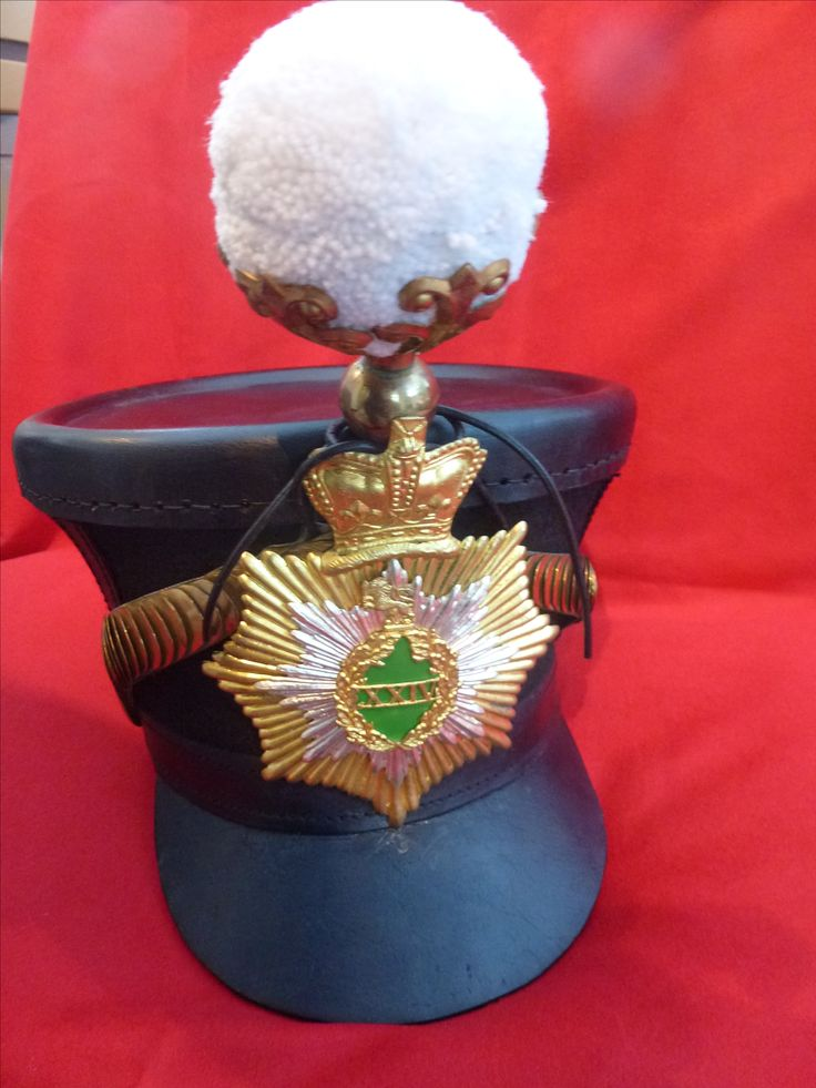 Reproduction Belltop shako 1826-44 with 24th foot star plate