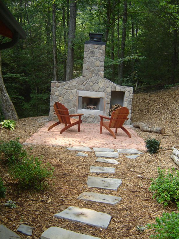 Charming Find This Pin And More On Outdoor Fireplaces. Diy Patio ...