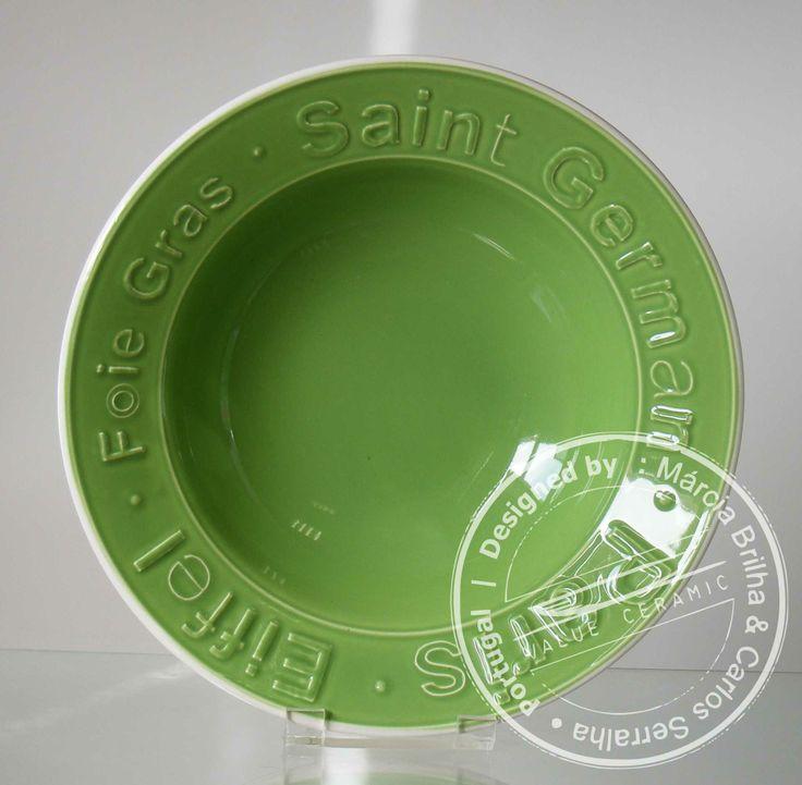 Pasta Plate   PARIS Green   by Carlos Serralha  2014