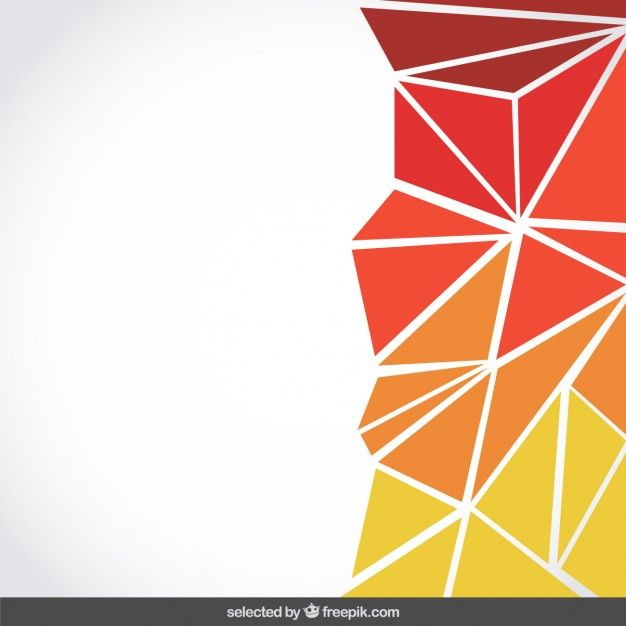Background made with orange triangles Free Vector