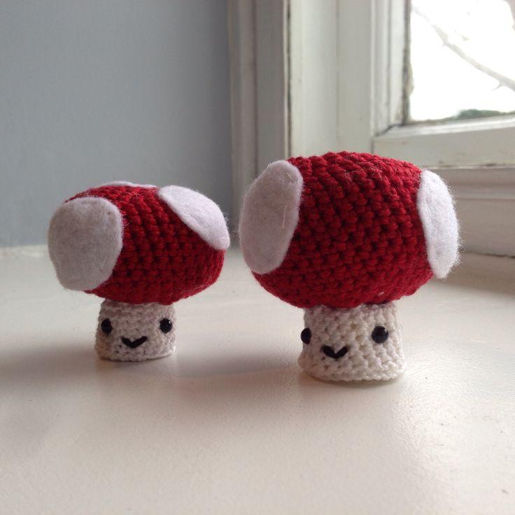 Crochet mushrooms.
