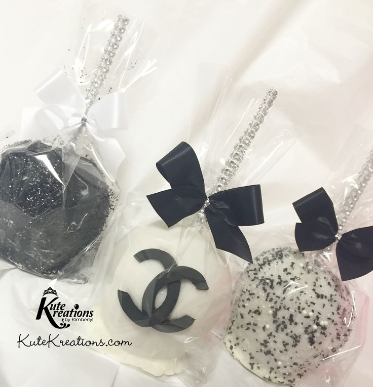 Coco Chanel Candy Apples by KuteKreations.com