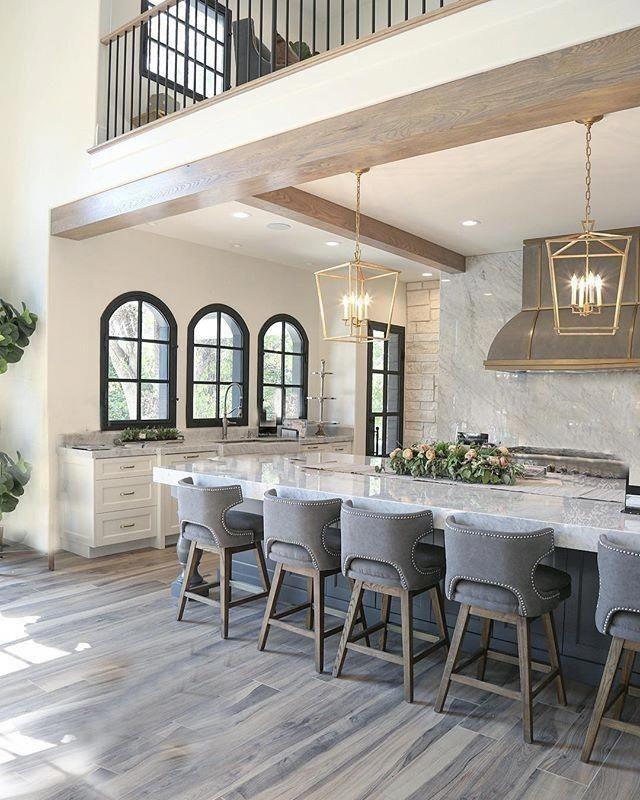 40 Creative Designs Remodel The Custom Kitchen Farmhouse Style Kitchen Modern Farmhouse Interiors Farmhouse Interior