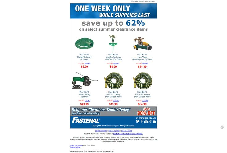 Simple example of clearance email and link to clearance center