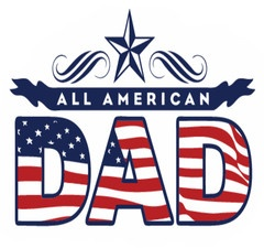 This is one of my favorites on balancedexpressions.co: BE Proud ~ $17.99  Help dad express himself with our BE Proud - All American Dad Tee