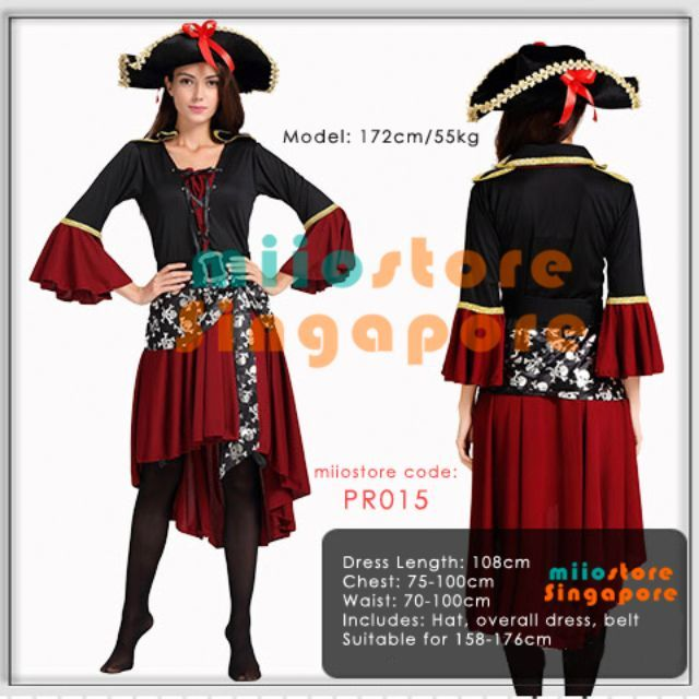 Pirates Costume Singapore! miiostore's July Halloween launch! Purchase (Brand new): $38.90  Rental by Advance Booking only ($5 partial payment per set required) - $18