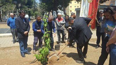 Bari Premio Eternot: piantumata la pianta in memoria di Maria Maugeri