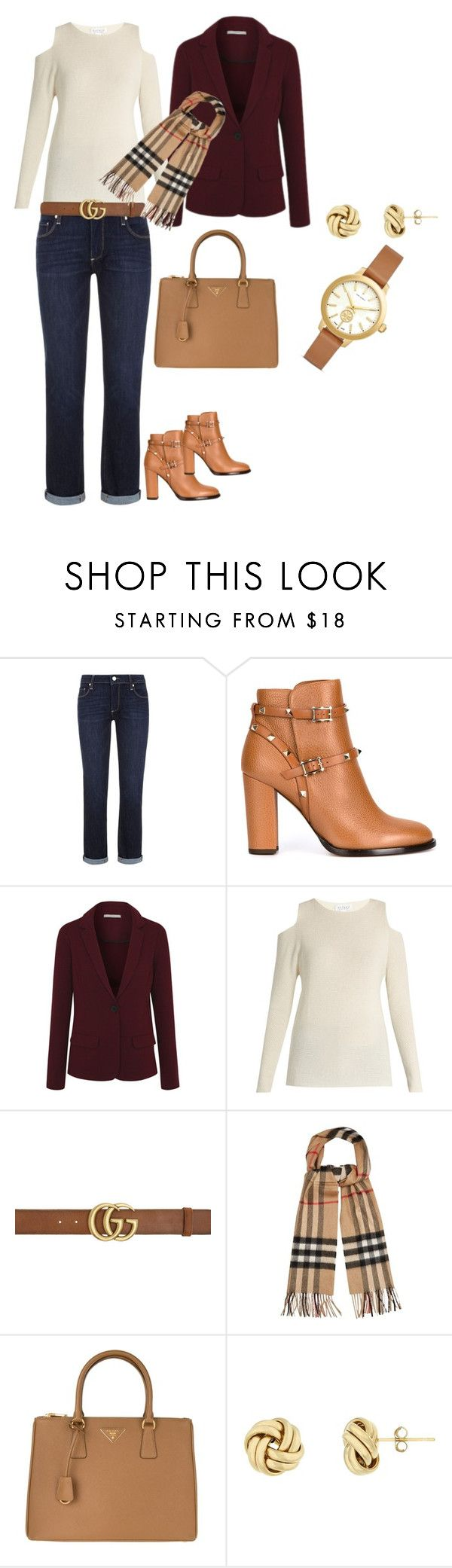 """""""Fall outfit"""" by y-joubert on Polyvore featuring Paige Denim, Valentino, George, Velvet by Graham & Spencer, Gucci, Burberry, Prada and Tory Burch"""