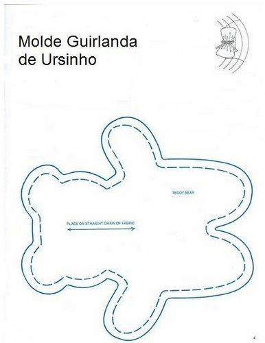 Molde Guirlanda de Ursinho