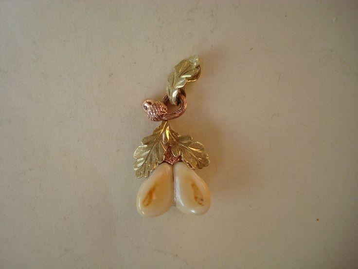 Anhänger Grandeln 585 Gold 14 Karat Gelbgold Rotgold Grandelschmuck Jagdschmuck