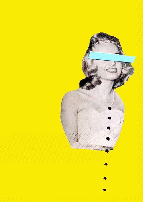 Miss, collage by Sacha Cohen Tanugi (aka Itchi)