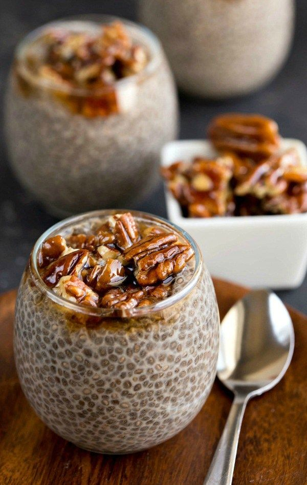 Sticky Bun Chia Seed Pudding - this recipe makes a healthy dessert or an easy breakfast!