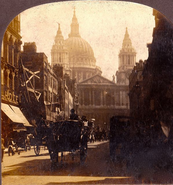 St. Paul's Church at Ludgate Hill. Circa 1900
