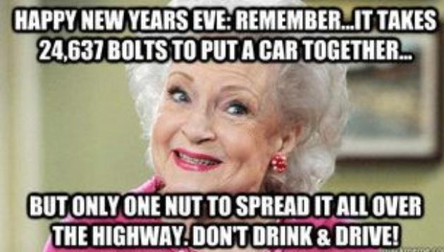BETTY WHITE HUMOR FUNNY NEW YEARS EVE