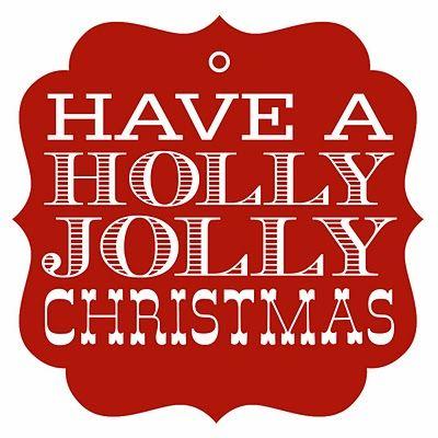 Holly Jolly tag