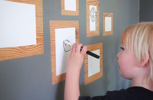 DIY Make A Dry Erase Framed Gallery For Your Child's Art