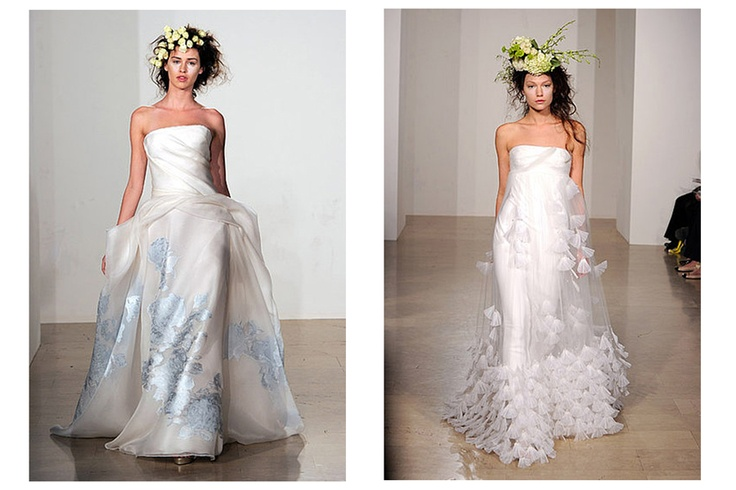 Gowns designed by Douglas Hannant