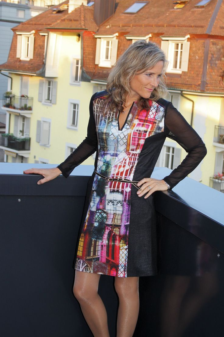 Ellen Hatteland's Long Sleeve Split Neck Dress