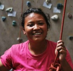 "Meet Parbati Joshi.  ""I love the mountains of Nepal. I have great respect for them, and am happy for all they offer me in terms of sport and also employment. I love trekking, rock climbing and sport and of course discovering new places."""