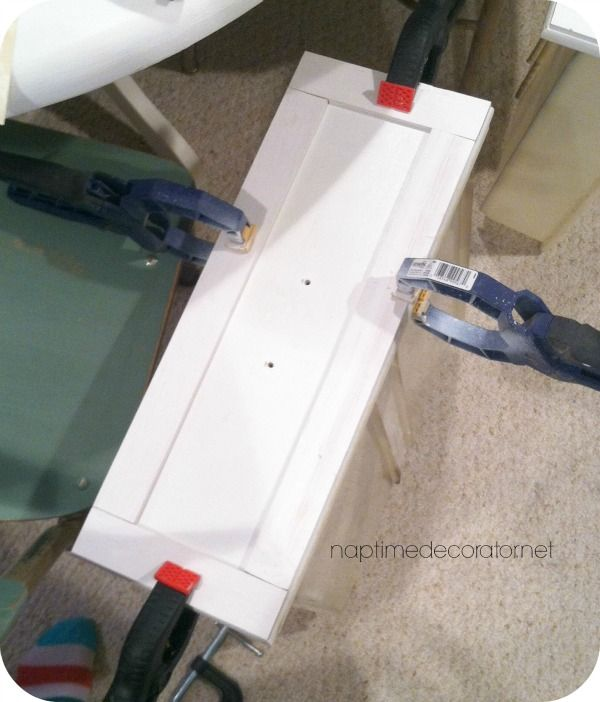 Adding Trim To Flat Cabinets, Use Wood Filler To Fill In