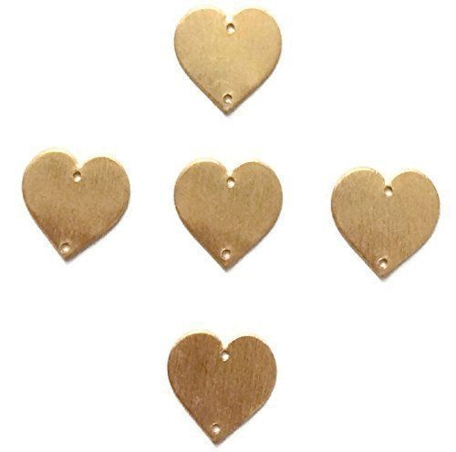 50 Pcs Heart Charm 24k Gold Plated Golden Stamp Finish Charm 14mm Charm #EMPRESSBEADS #Faceted