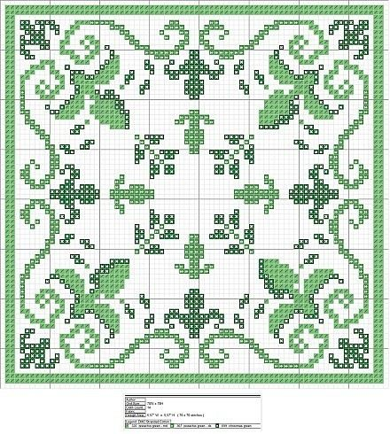 Cross-stitch Irish biscornu ... no color chart available, just use the pattern chart as your color guide.. or choose your own colors... Gallery.ru / Фото #13 - кладовочка разностей - irisha-ira