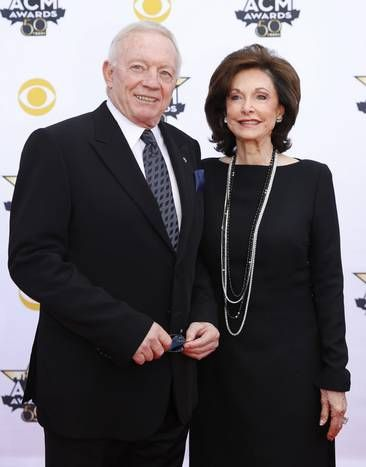 Dallas Cowboys owner Jerry Jones and wife Gene Jones on the red carpet before the 2015 Academy of Country Music Awards Sunday, April 19, 2015 at AT&T Stadium in Arlington, Texas. (Ashley Landis/The Dallas Morning News)