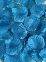 Шёлковые лепестки роз (100 шт), синий