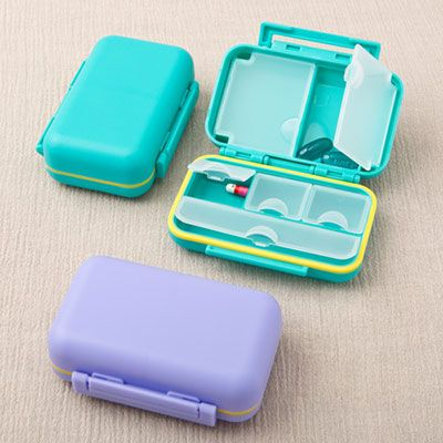Don't feel embarrassed when you need to take pills in company. These stylish pill boxes are a fashion accessory and need to be shown off!Throw away your old and worn out pill holder and replace it with something stylish that you can leave in full view on the dinner table.These boxes are classy and cleverly designed to keep your meds easily accessible. The box is manufactured from plastic and comes in two lovely colors, a soft lavender and a bright blue. Inside are six different compartments…