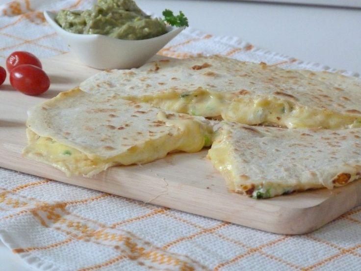 ÖkoLife: Rezept:Käse Quesadillas mit Avocado-Dip