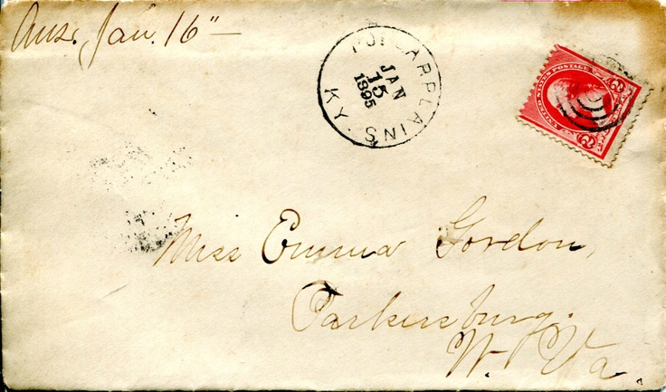 Parkersburg,  WV - Cover and Contents Letter Poplar Plains KY DPO 1895.