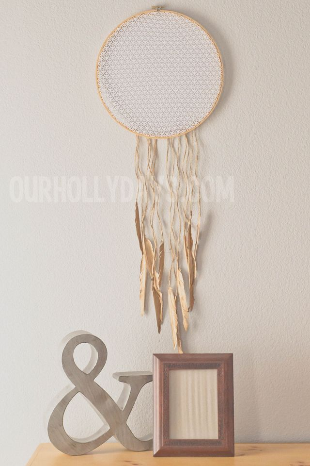 Our Holly Days: Lace Dream Catcher DIY