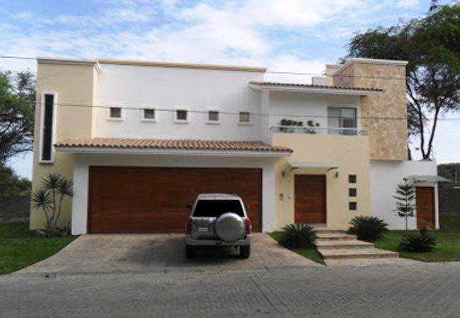 Fachadas de casas de dos niveles con ventanas peque as for Buscar casas modernas
