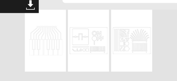 We've got some new stencils that you can download and use them into your Touch Board or Pi Cap projects.