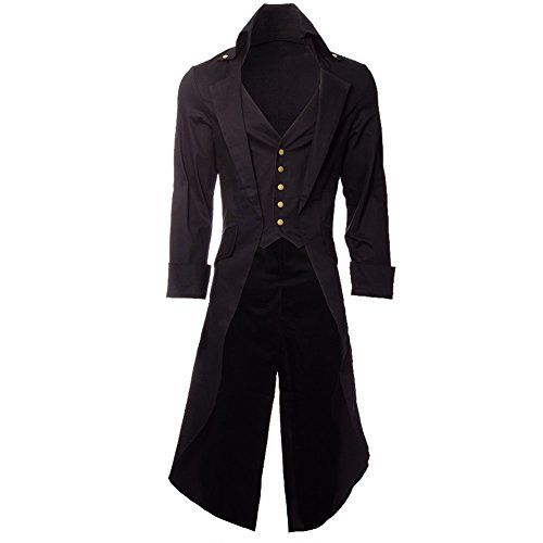 A gorgeous long tailed jacket for a man's steampunk outfit.......in fact I'd be tempted to use it in a lady's costume.